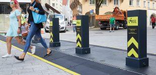 Augsburg testet mobile Pollersperre für den Terrorschutz