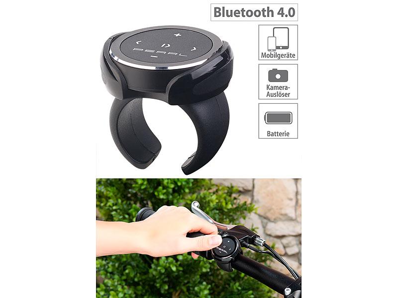 auvisio Media-Fernbedienung für iOS & Android, Bluetooth 4.0, Kamera-Auslöser, www.pearl.de