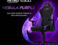 BRANDNEU bei Caseking – Der Nitro Concepts S300 Gaming-Stuhl in Nebula Purple.