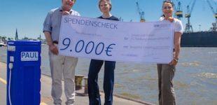 leogistics übergibt 9.000 Euro Spende für Wasserrucksack PAUL an Universität Kassel