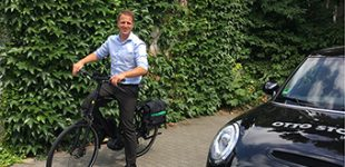 Hausverwaltung mit E-Bike-Power