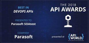 Parasoft SOAtest mit 2018 API Award ausgezeichnet