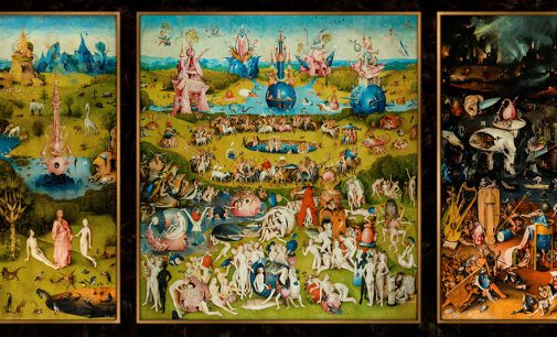 """Hieronymus Boschs """"Der Garten der Lüste"""" in 1:1 Originalgröße 390 x 220 cm"""
