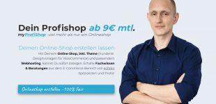 Dein fairer Profishop für anfänglich nur 9 EUR monatlich