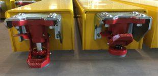Ergonomische Bodenstopper für Rollplattformen