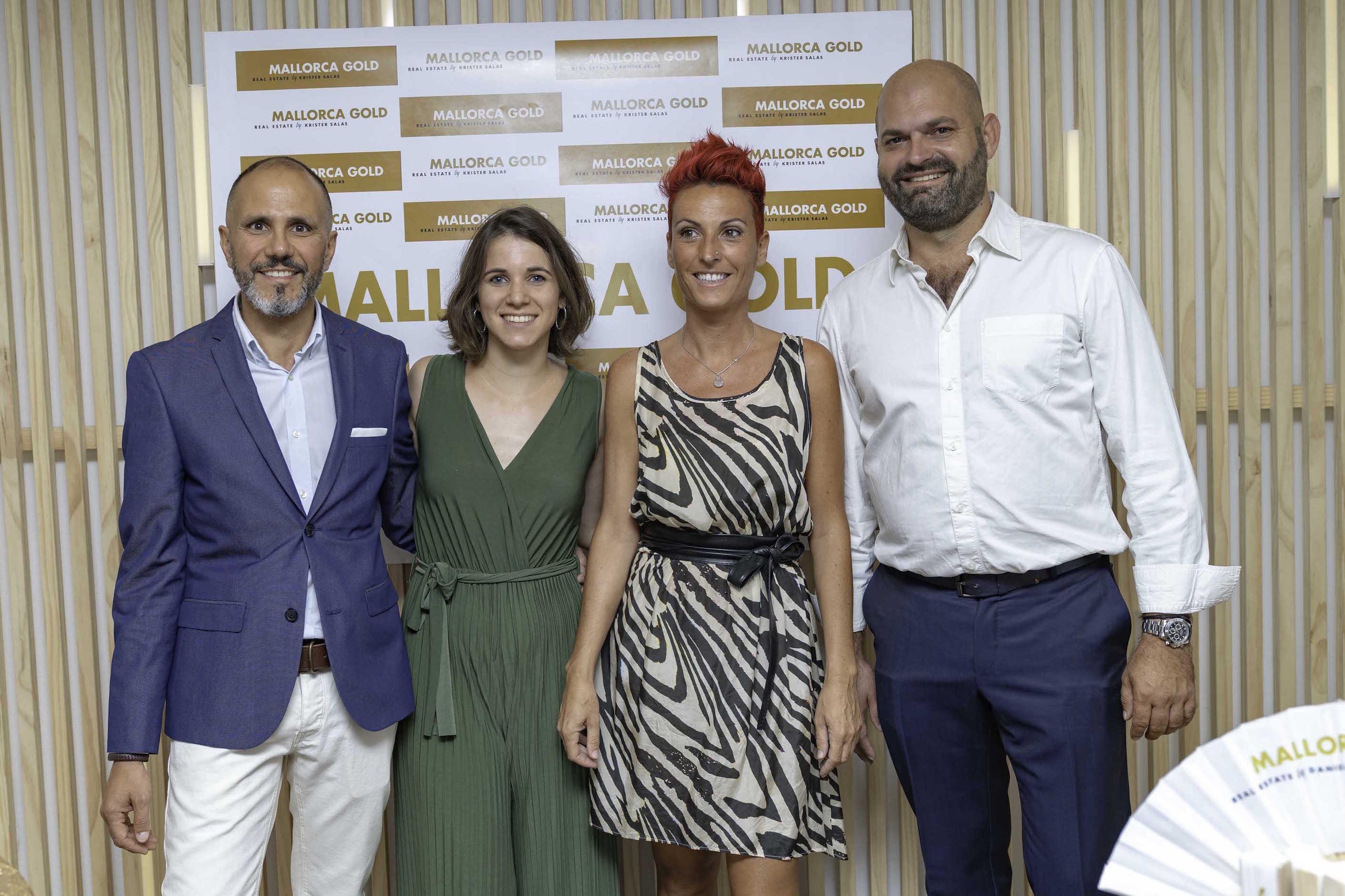 Das Mallorca Gold Team von links nach rechts: José Martin, Irene Ramos, Deborah Rossi, Krister Salas
