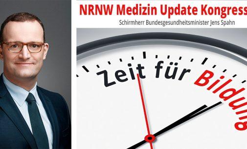 Bundesgesundheitsminister Jens Spahn übernimmt die Schirmherrschaft des NRNW Medizin Update Kongress 2019