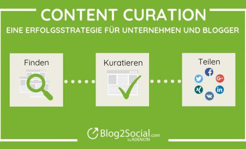 Content Curation – eine Erfolgsstrategie für Unternehmen und Blogger