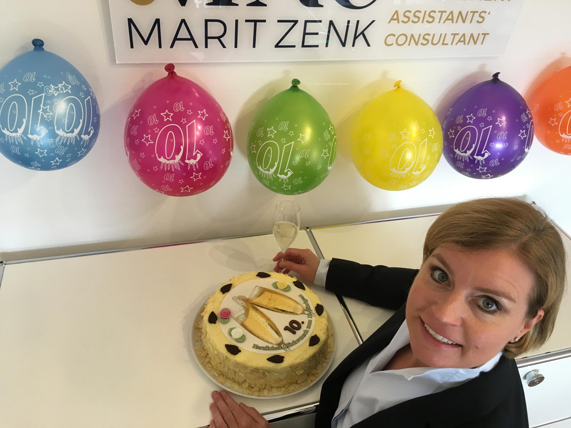 Die Unternehmerin Marit Zenk feiert Zehnjähriges