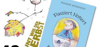 Heitere Kurzgeschichten.   Rainer Neumann liest in der Buchhandlung Lavorenz in Uetersen.