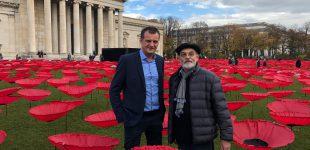 Drahtbiegeteile aus Oberfranken für ein Meer an Mohnblumen als Kunst gegen den Krieg!