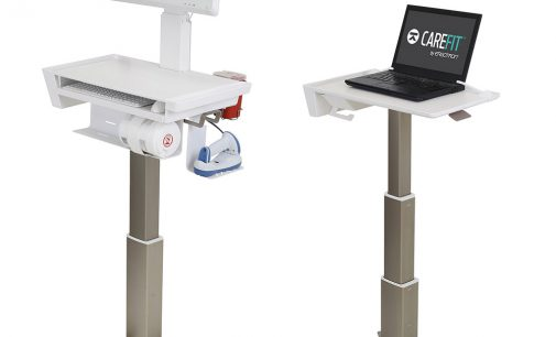 Ergotrons ultraschlanker CareFit Medizinwagen auf der MEDICA