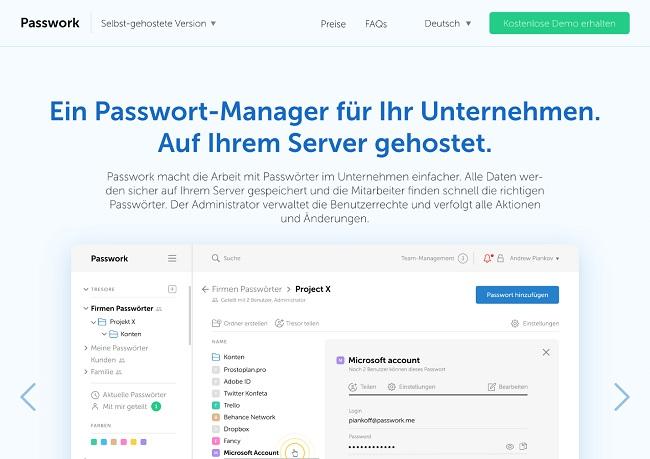 Passwork Webseite