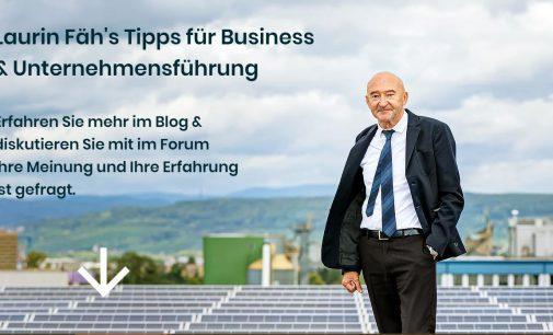 Laurin Fäh's Tipps für Unternehmensführung