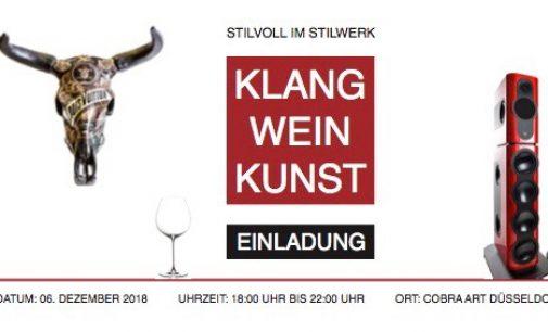 KLANG WEIN KUNST: Kii Audio lädt zu einem besonderen Abend in die Cobra Art Galerie in Düsseldorf ein