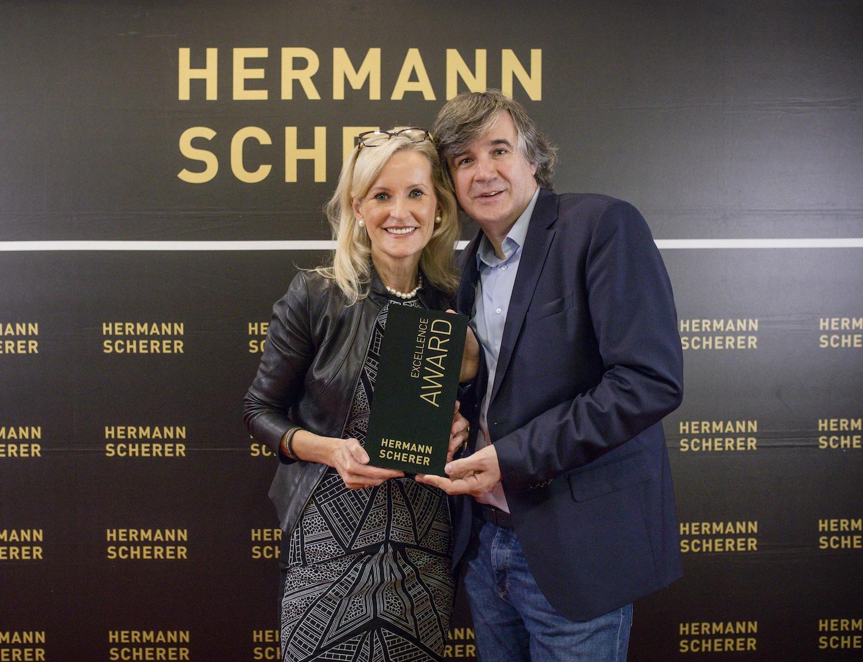 Ulrike WINzer mit Initiator Hermann Scherer