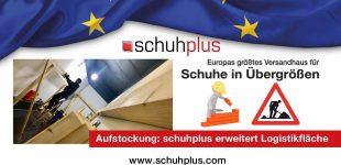 Aufstockung: schuhplus erweitert Logistikfläche