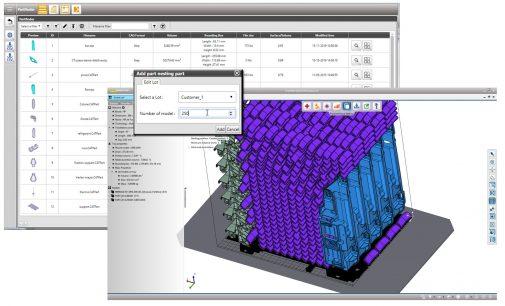 Innovatives Batchnesting Tool für automatischen 3D-Druck