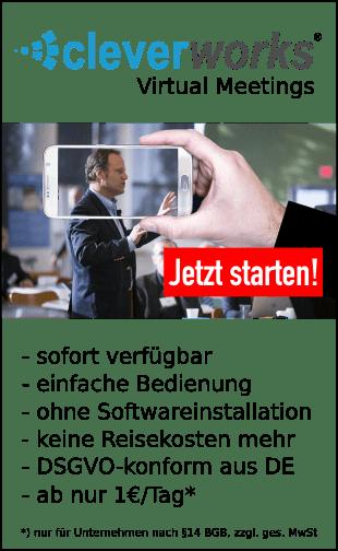 Cleverworks Marketing- und Salesautomation Virtuel Meetings