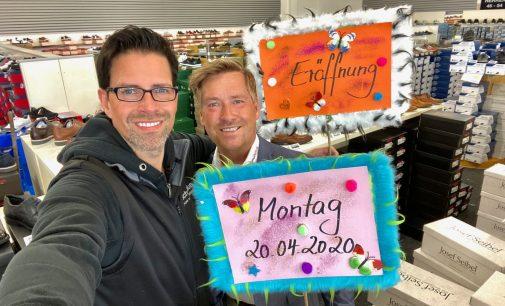 Der Countdown läuft: Große Schuhe ab Montag 20. April bei schuhplus in Dörverden