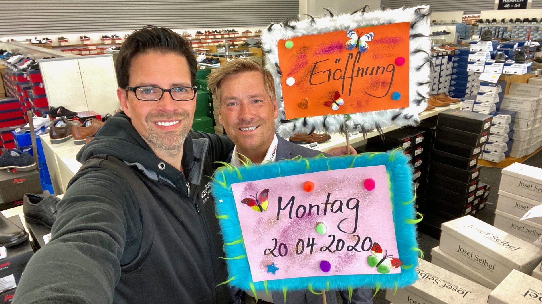 Große Schuhe ab Montag 20. April bei schuhplus in Dörverden