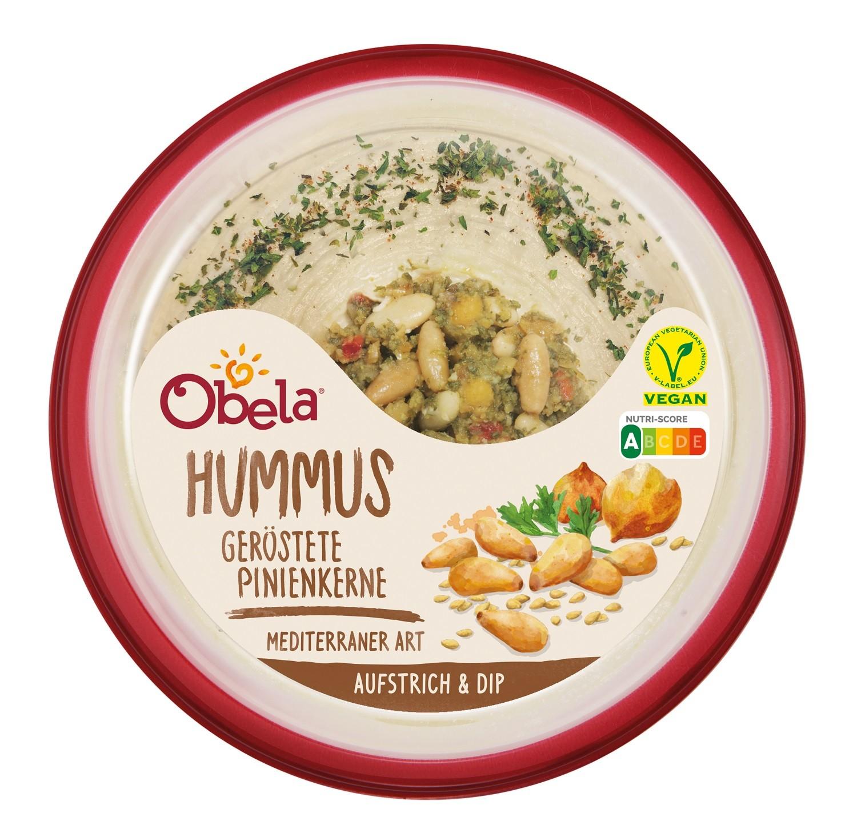 Obela Hummus im neuen Verpackungsdesign mit Nutri-Score