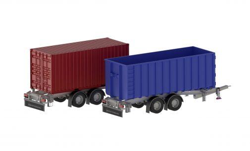 Abrollcontainer und Wechselbrücken – Zentralachsanänhänger sorgt für Flexibilität in alle Transportrichtungen
