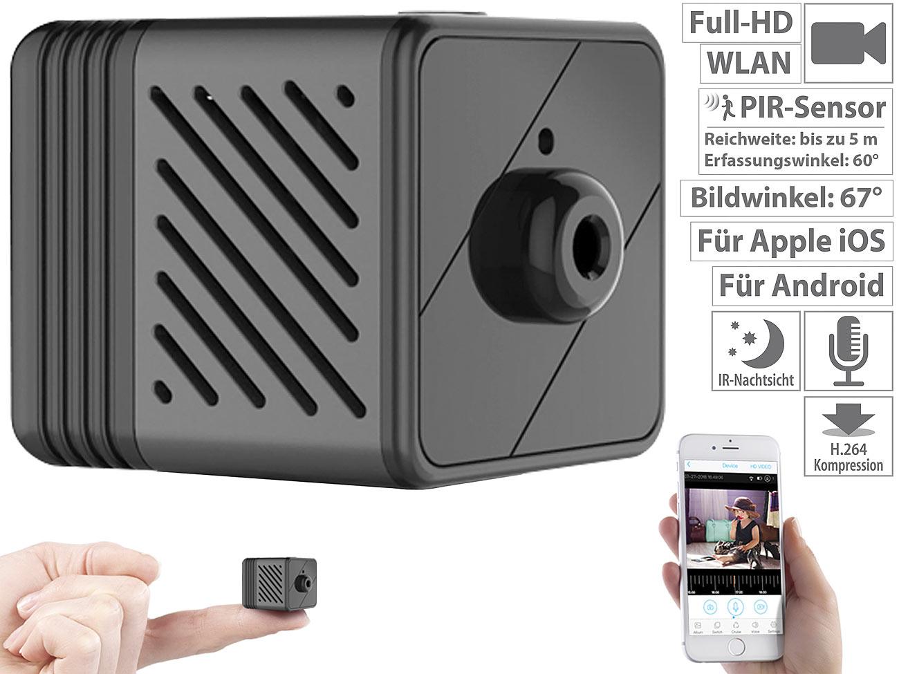 7links Micro-IP-Kamera IPC-80.mini mit Full-HD, Akku, PIR, Nachtsicht, 6 Mon. Stand-by, www.pearl.de