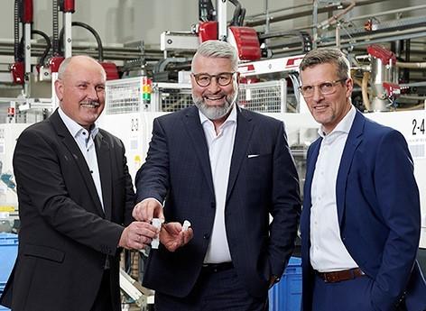 v.l.n.r. - Geschäftsführer: Hans-Peter Niederwald (CEO), Lars Blatt (CSO), Ralf Winter (COO)