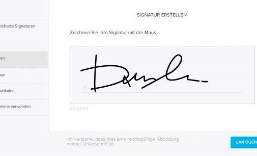 Rechtssichere Unterschriften mit HelloSign jetzt auch in Deutsch