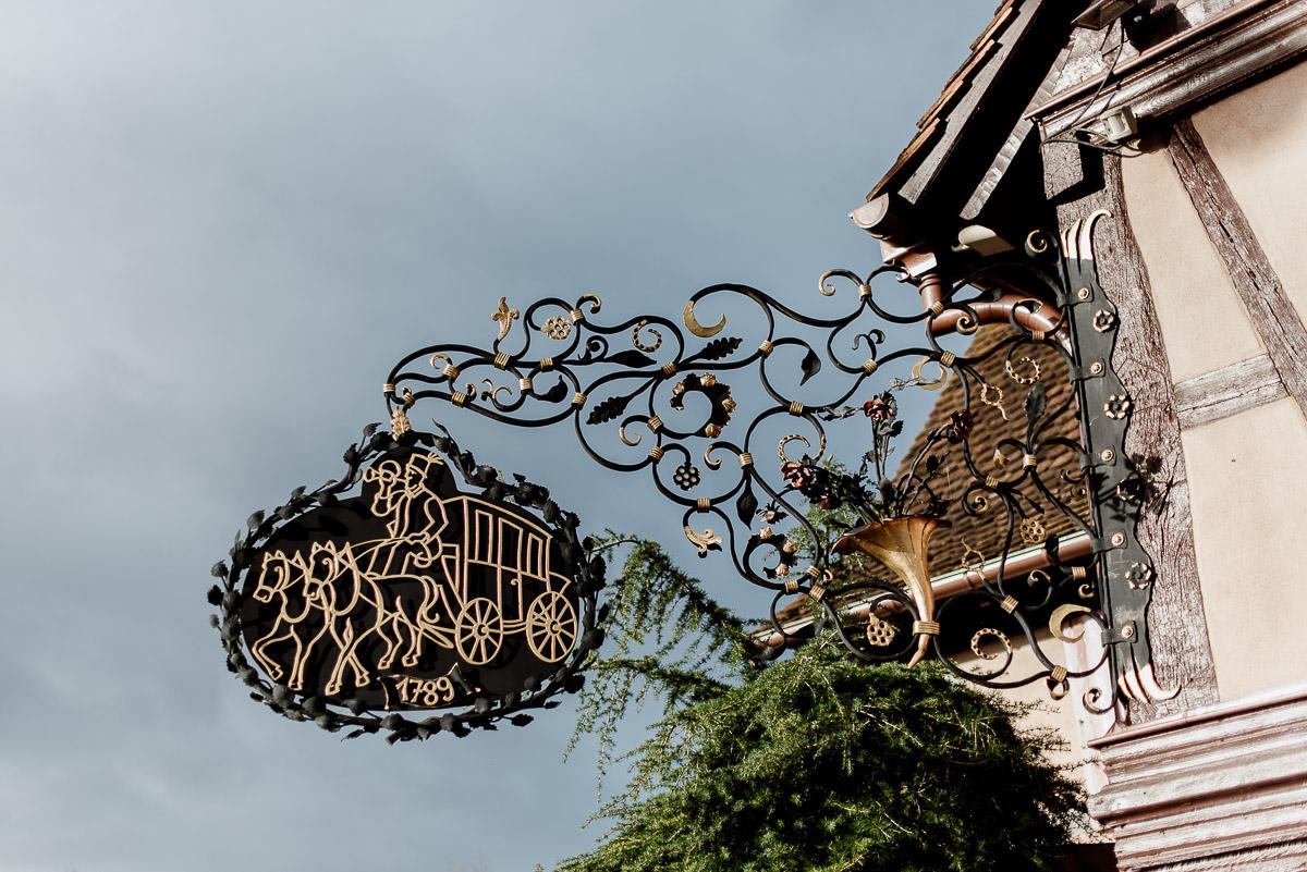 Gourmetrestaurant Le Relais de la Poste im romantischen Fachwerkhaus in La Wantzenau im Elsass