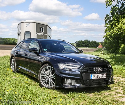 Pferdeanhänger-Zugfahrzeugtest Audi A 6 Avant: Top-nobler, sportlicher Kombi für hohe Ansprüche