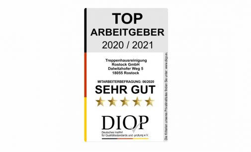 """TOP ARBEITGEBER aus Rostock mit """"sehr gut"""" ausgezeichnet"""