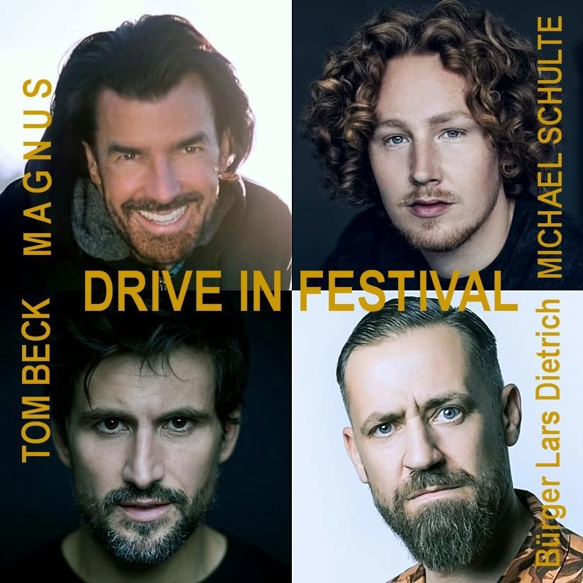 MAGNUS, Michael Schulte, Tom Beck, Bürger Lars Dietrich beim DRIVE IN FESTIVAL in Bottrop