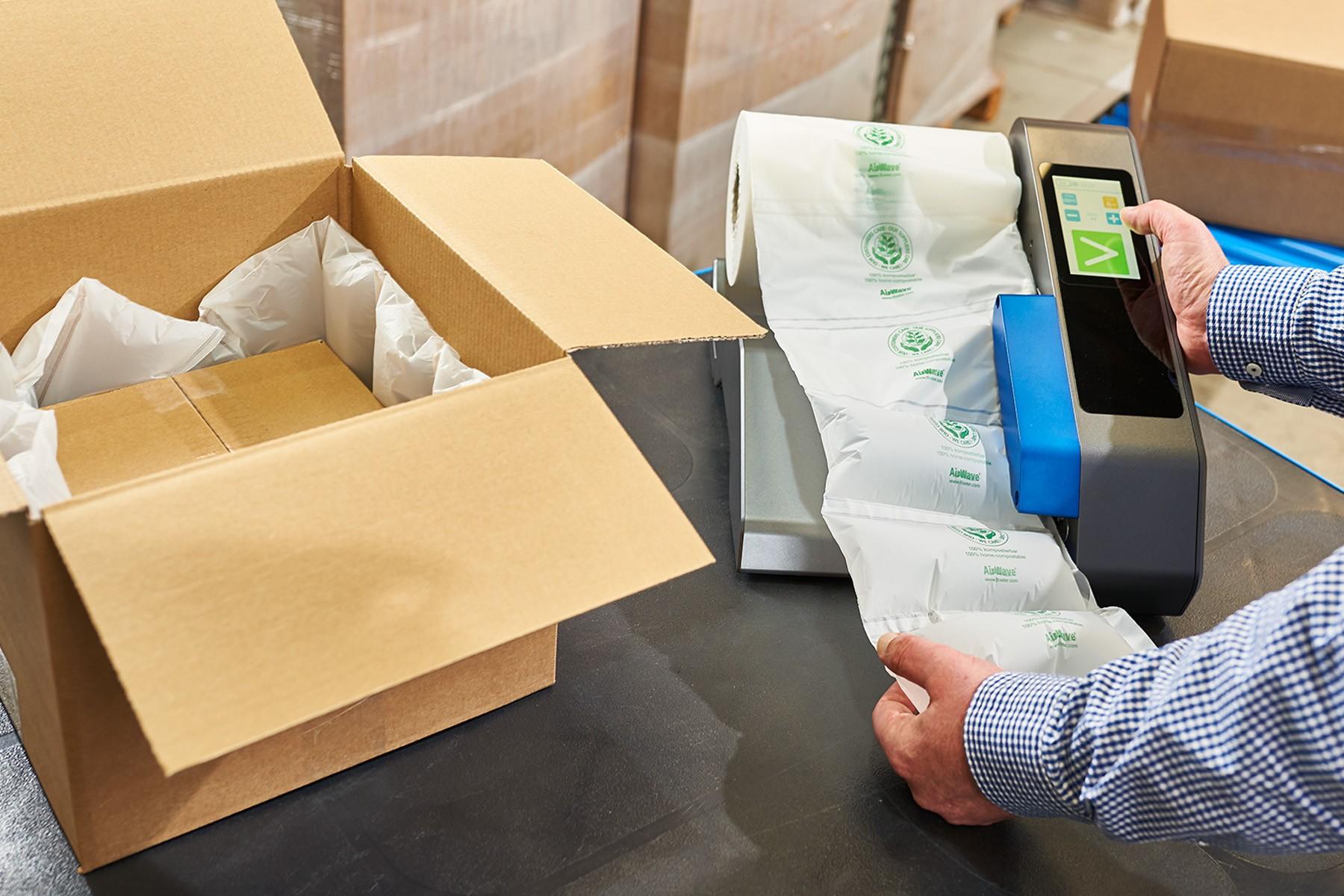 AirWave Bio. Die home kompostierbare Luftpolsterfolie von Flöter