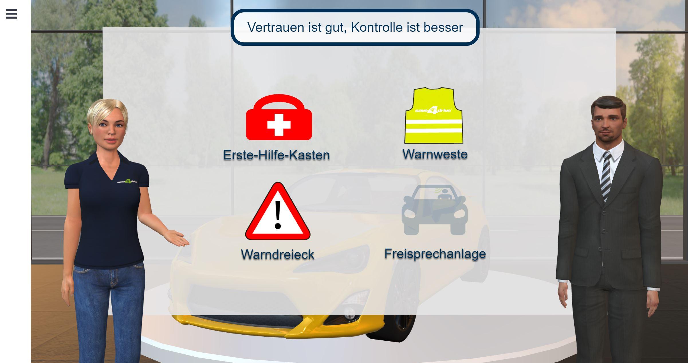 Der Virtual Trainer enthält ein neues Modul für den Mitarbeiterschutz bzgl. Corona