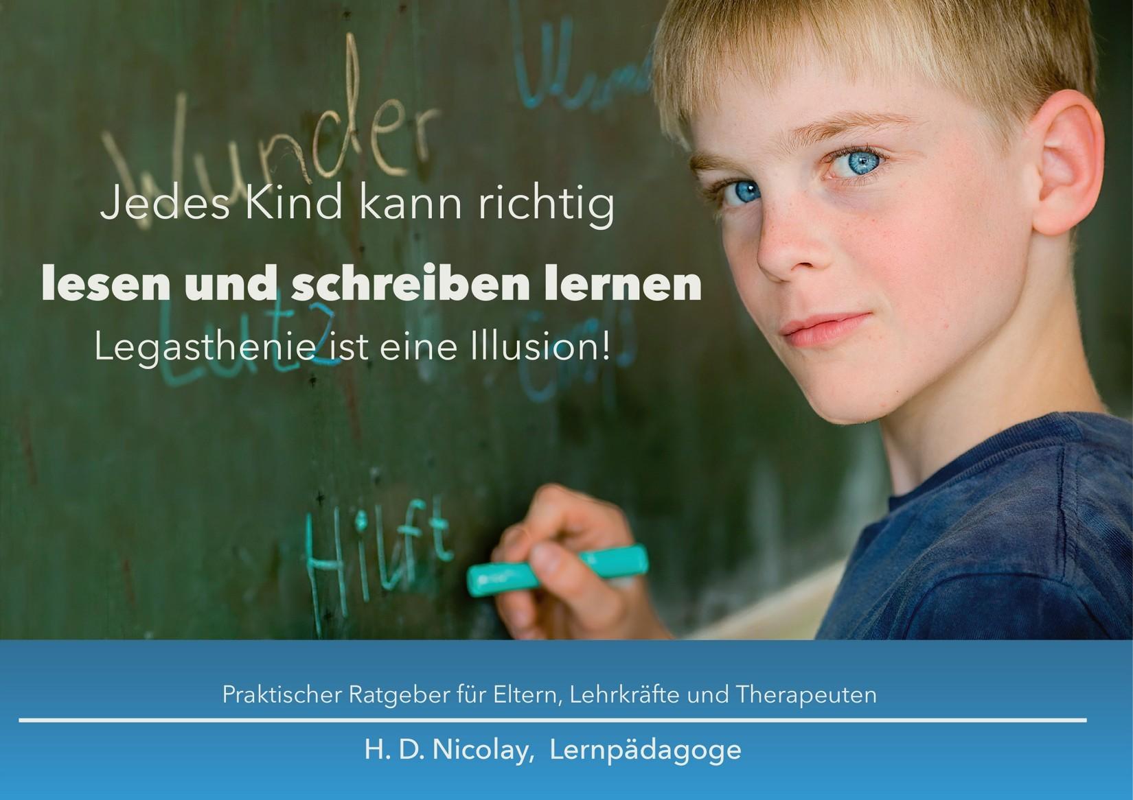 Das neue Buch von H. D. Nicolay ist ein Selbsthilfe-Ratgeber, um lesen und schreiben zu lernen