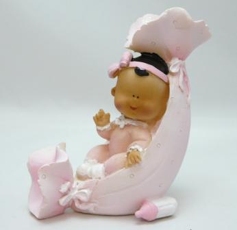 Tischdeko zur Babyparty, babyshower - Figur Baby in Rosa oder Blau