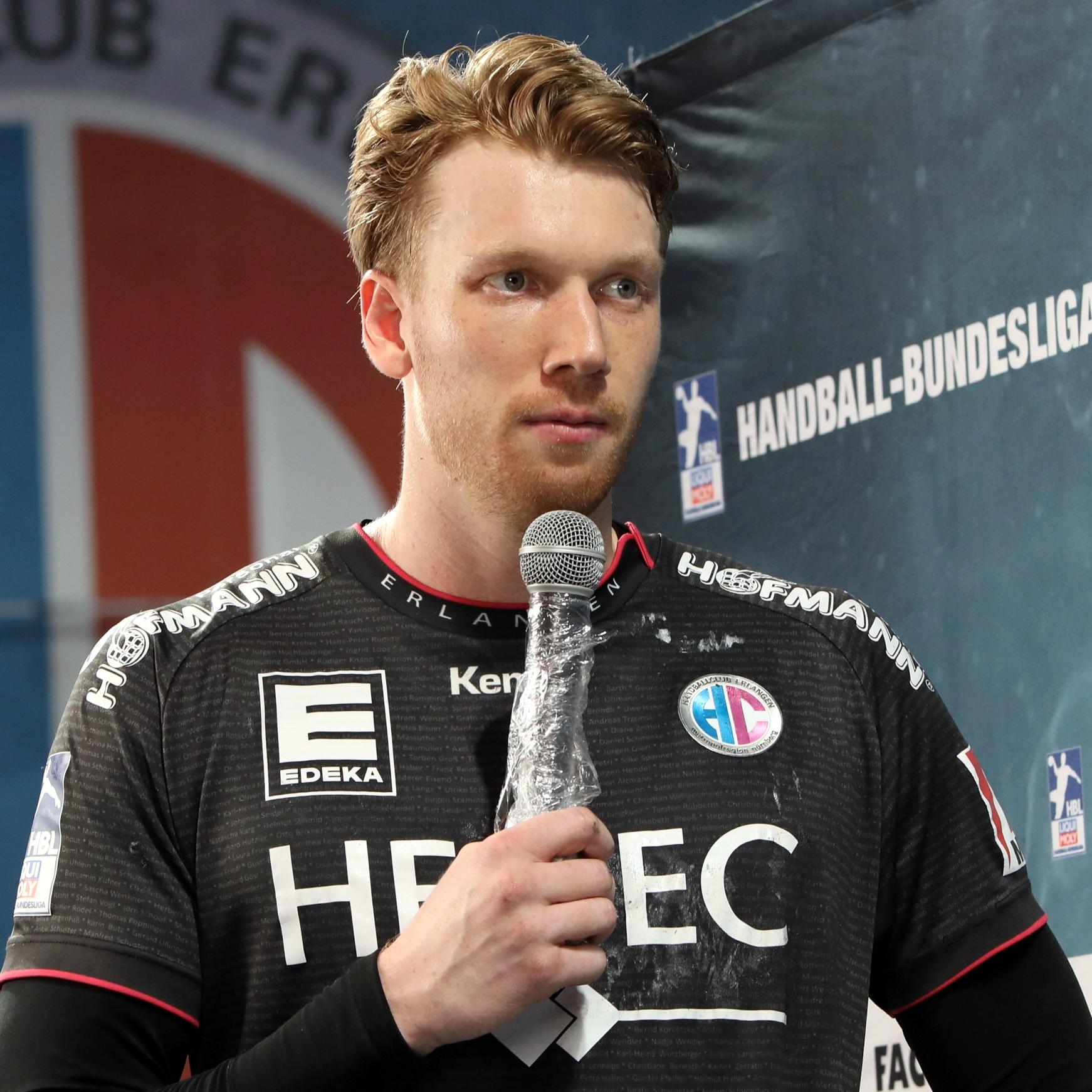 Bester Werfer des HC Erlangen war Simon Jeppsson mit sieben Treffern