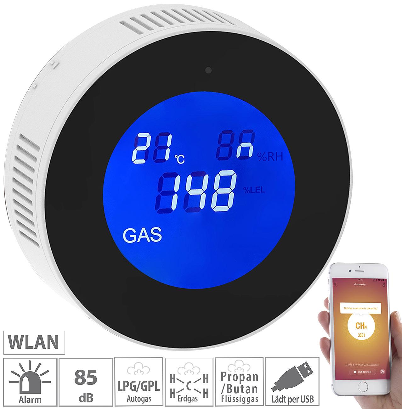 VisorTech WLAN-Multi-Gasmelder für haushaltsübliche Gase, mit App & Sprachansage, www.pearl.de