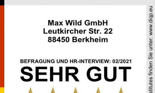 Max Wild ist Top Arbeitgeber und Top Ausbildungsbetrieb
