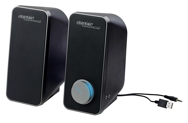 auvisio Stereo-Lautsprecher MSX-180 mit USB-Stromversorgung, 24 Watt, 3,5-mm-Klinke, www.pearl.de