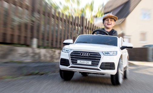 Playtastic Kinderauto Audi Q5, bis 7 km/h, Fernsteuerung