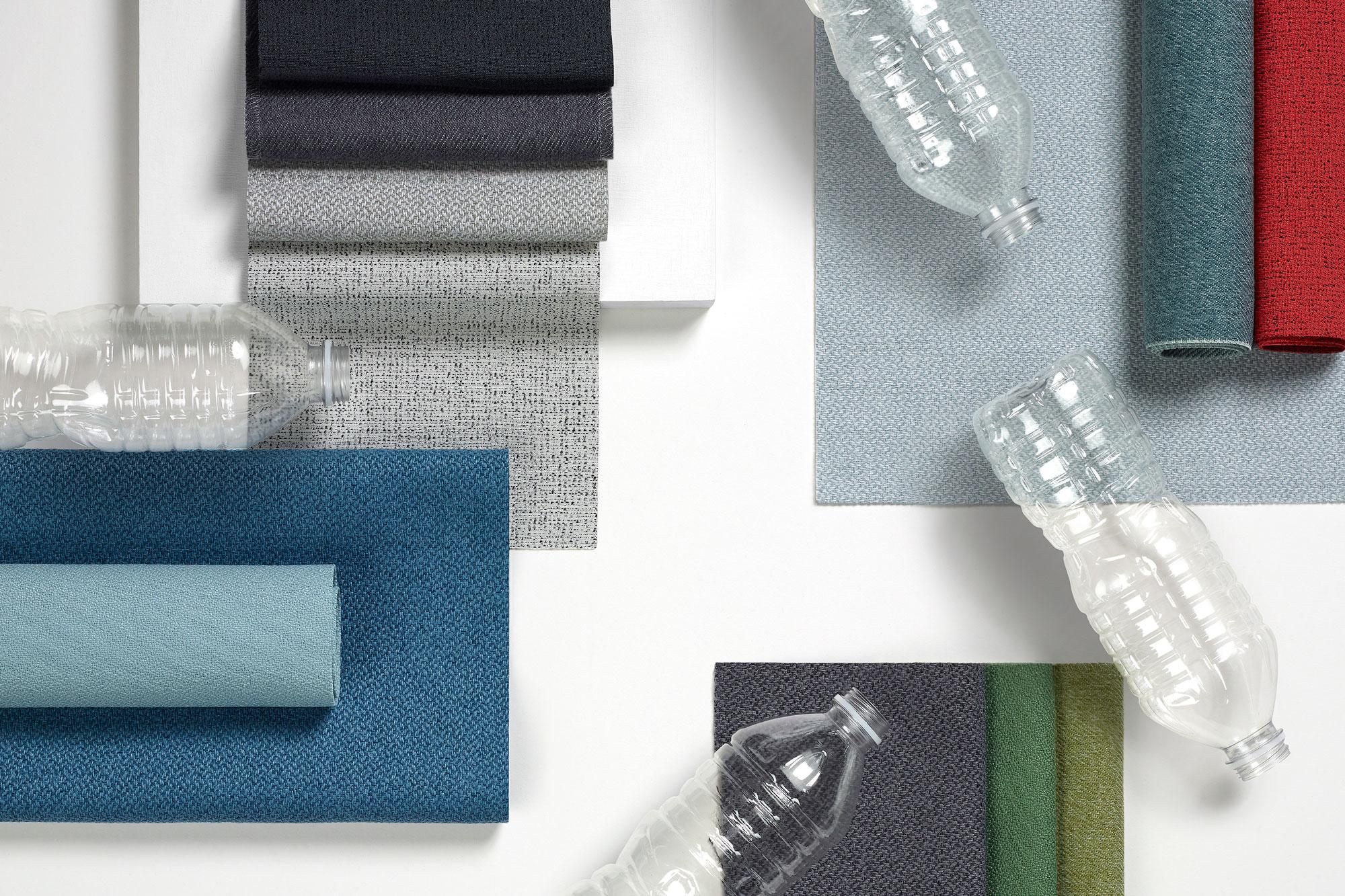 Farbenfrohe Nachhaltigkeit: Die neue Stoffkollektion ›Revenio‹ kommt in vier individuellen Mustern