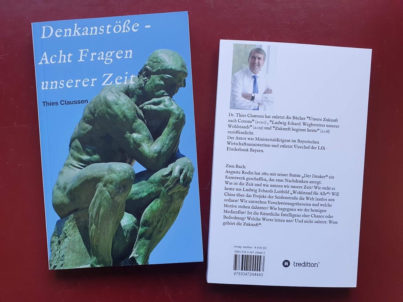 """Neues Buch """"Denkanstöße - Acht Fragen unserer Zeit"""""""