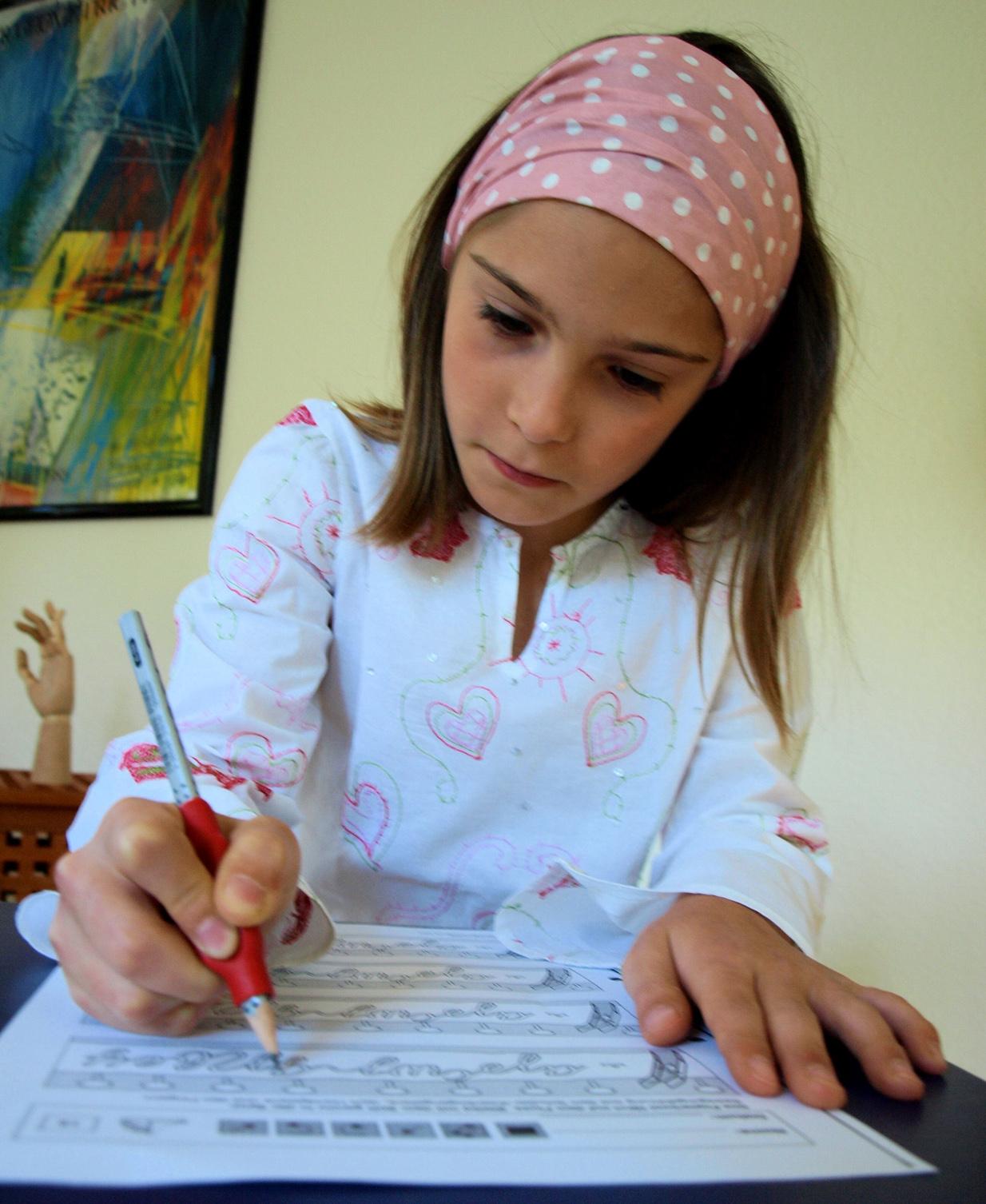 Schreibtraining, um Lesbarkeit und flüssiges Schreiben zu ermöglichen