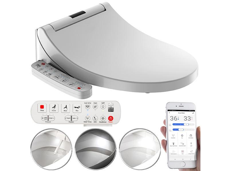BadeStern Smarter Dusch-WC-Aufsatz mit Föhn-Funktion, Sitzheizung & App, www.pearl.de