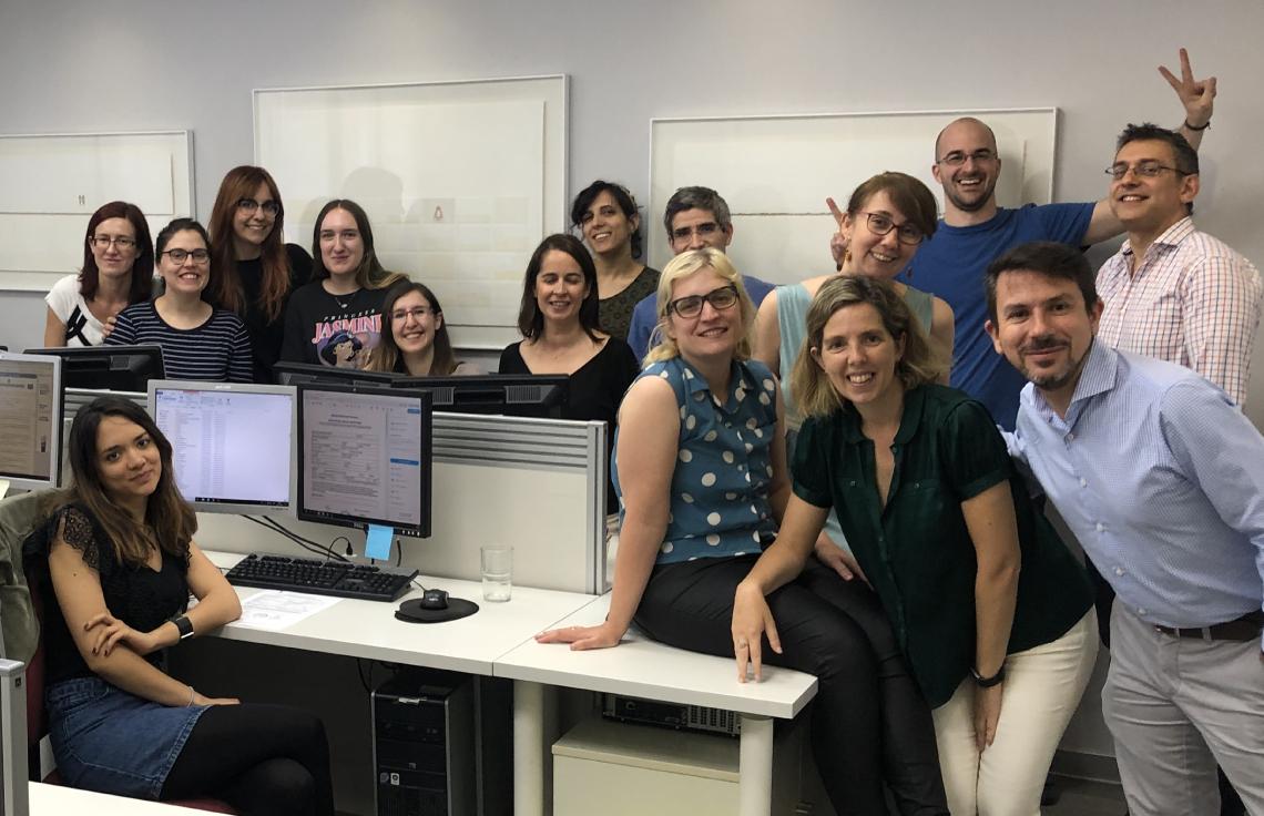 Teamfoto des spanischen Sprachdienstleisters Tridiom