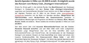 Staatsoper Stuttgart: Große Spendenbereitschaft bei Online-Benefizkonzert – Stream bis 2. Mai verfügbar
