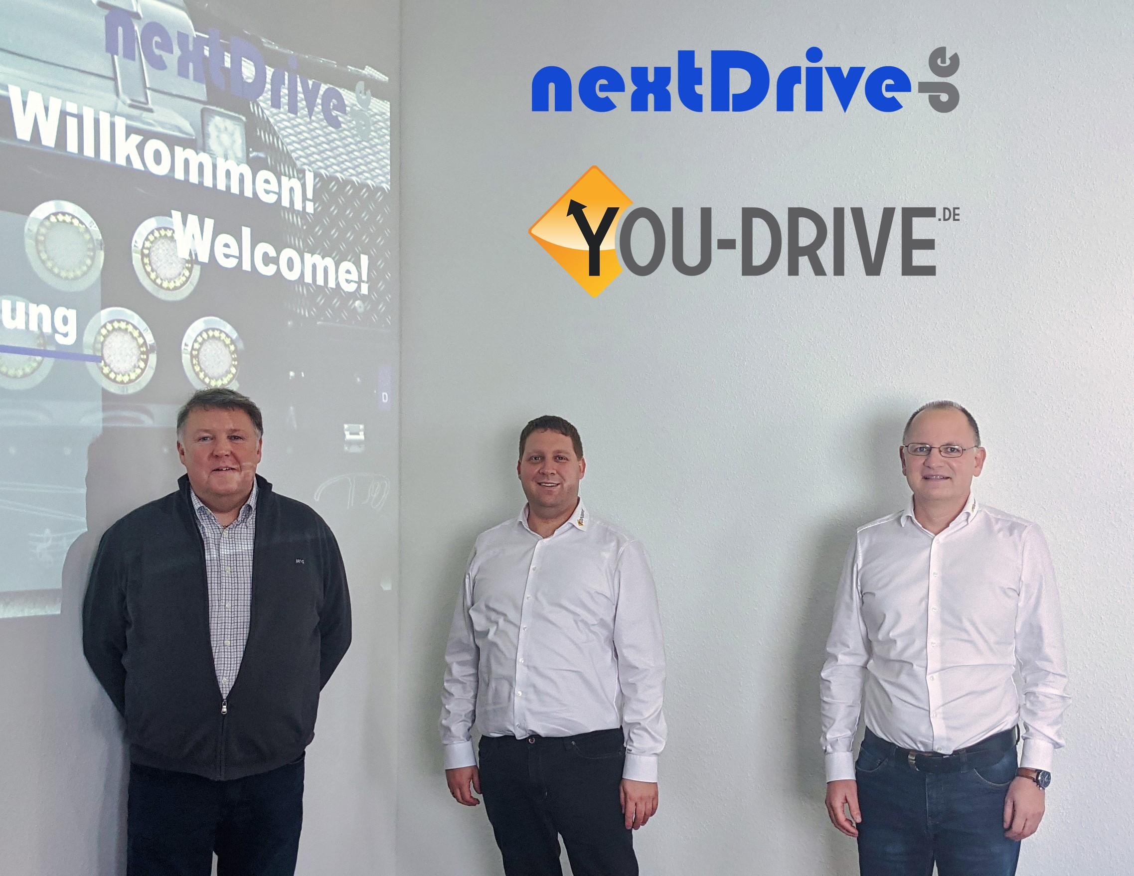 v.L. Achim Daniels, nextDrive.de, Bernhard Rauleder & Heiko Huber, beide YOU-DRIVE GmbH